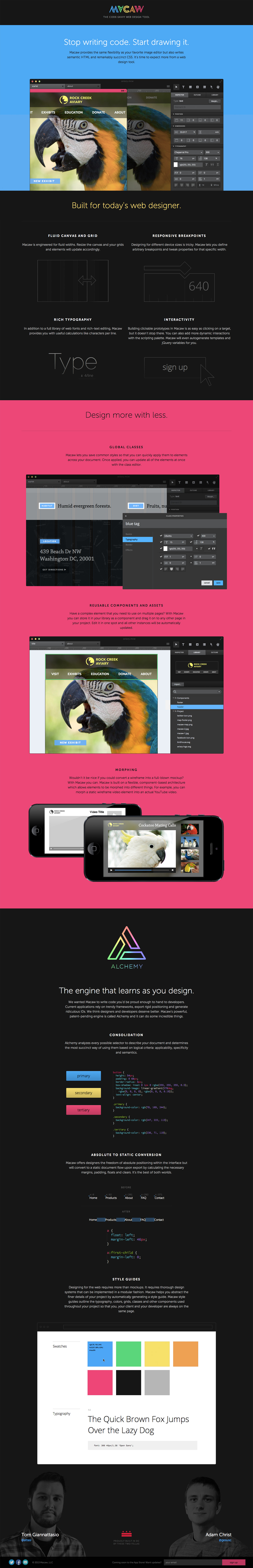 Macaw Website Screenshot