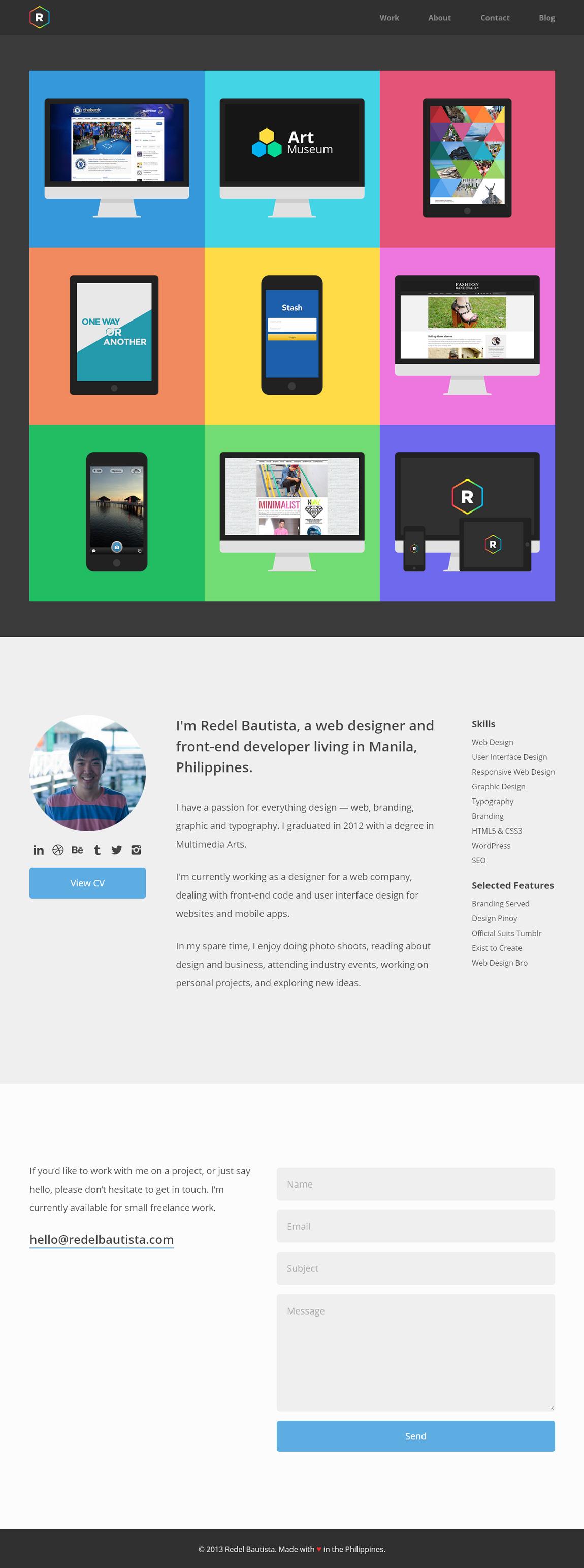 Redel Bautista Website Screenshot