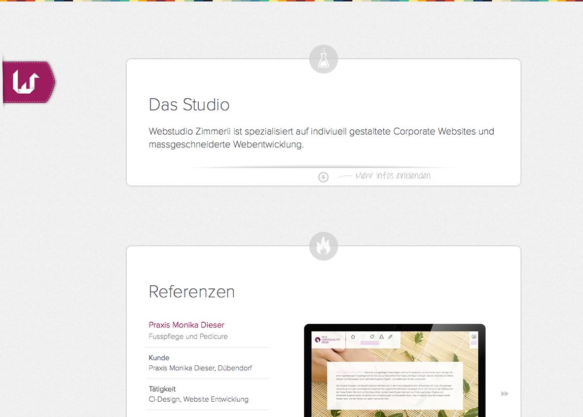 Webstudio Zimmerli Website Screenshot