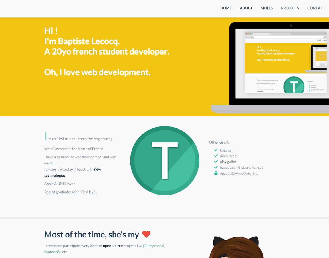Tiste Website Screenshot