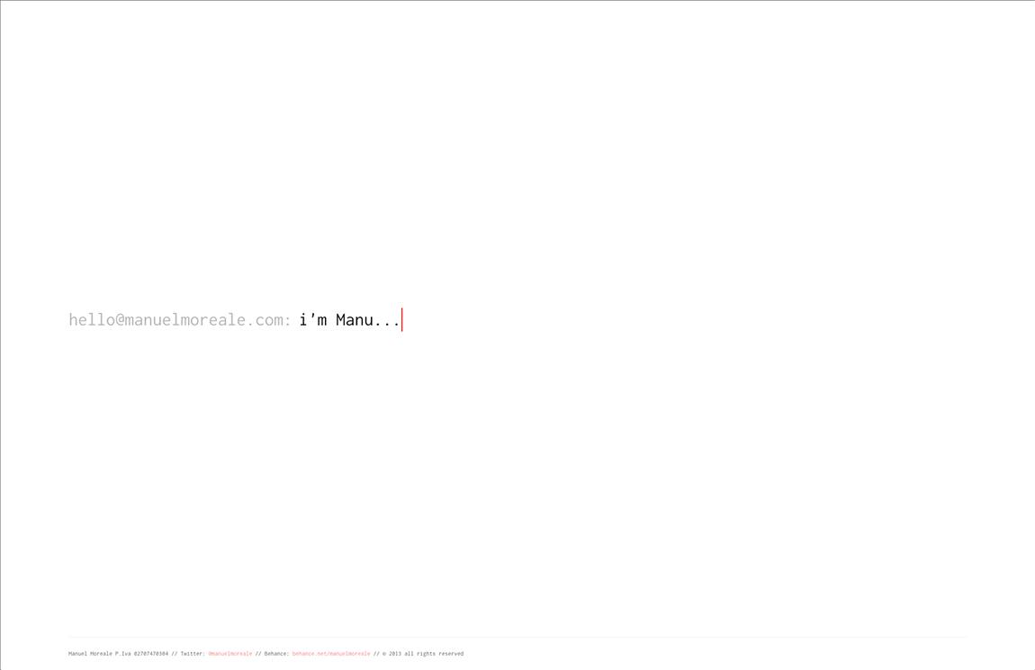 Manuel Moreale Website Screenshot