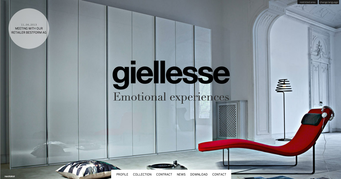 Giellesse Website Screenshot