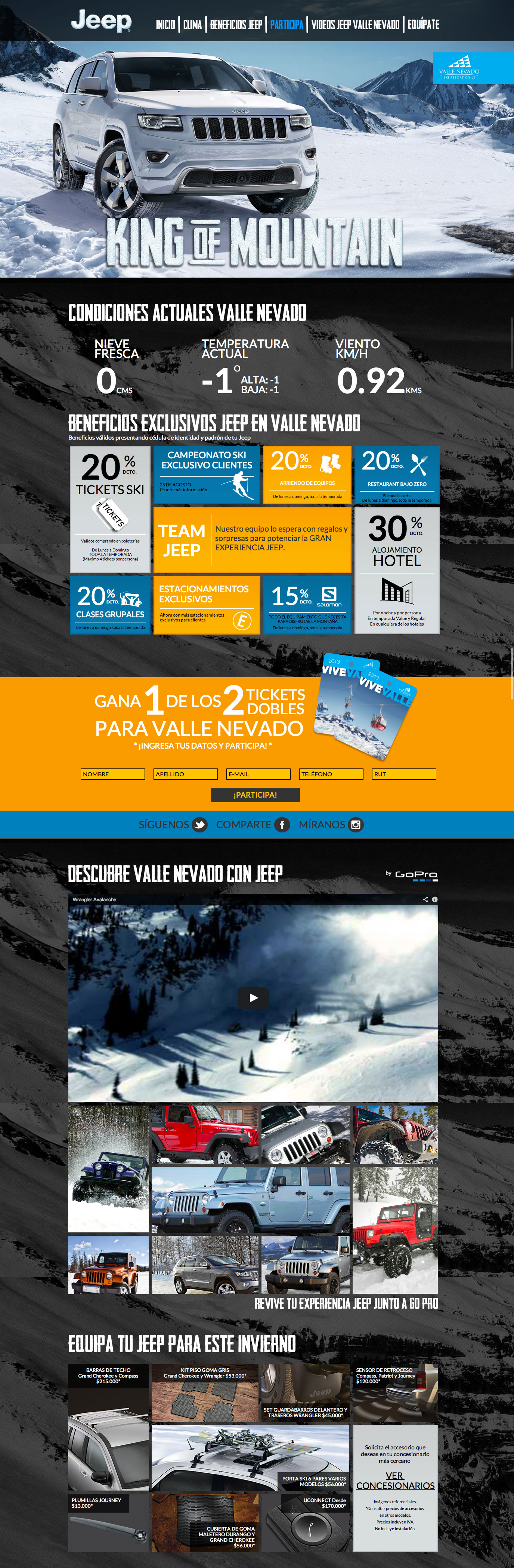 Invierno Jeep Website Screenshot