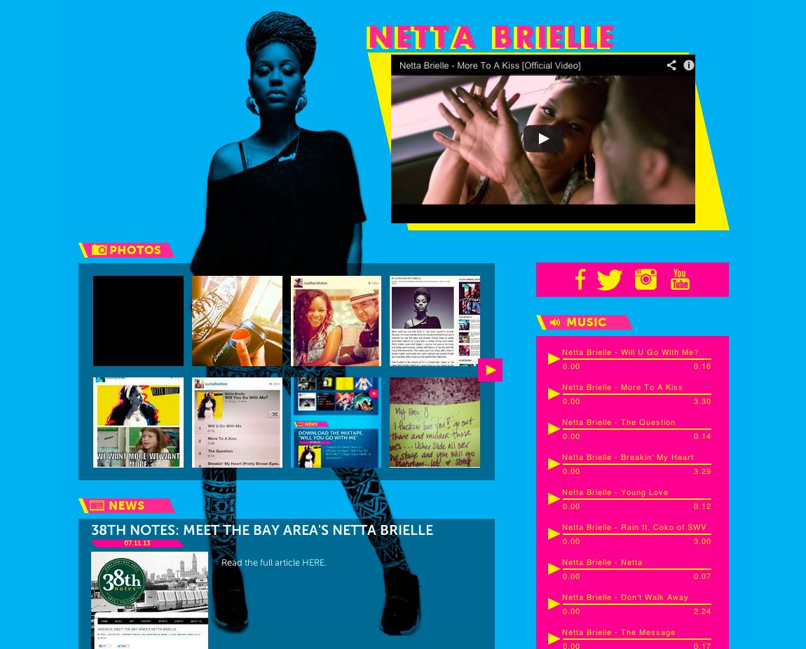 Netta Brielle Website Screenshot