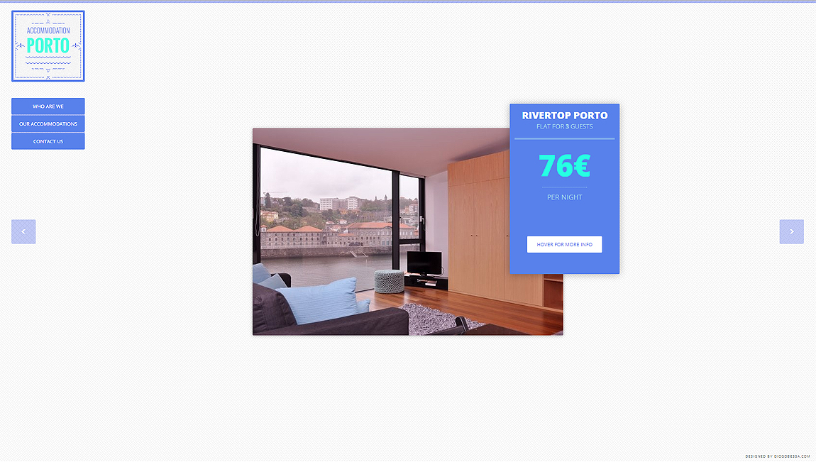 Accommodation in Porto Website Screenshot