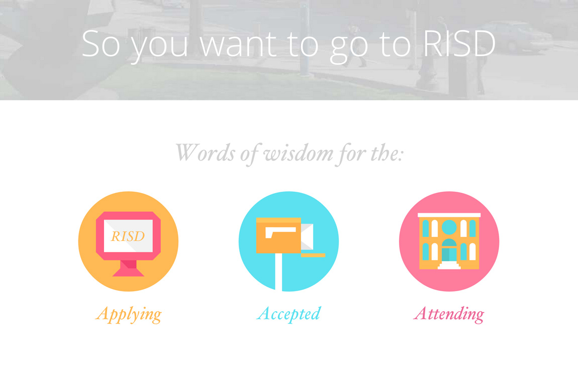 So You Want To Go To RISD Website Screenshot