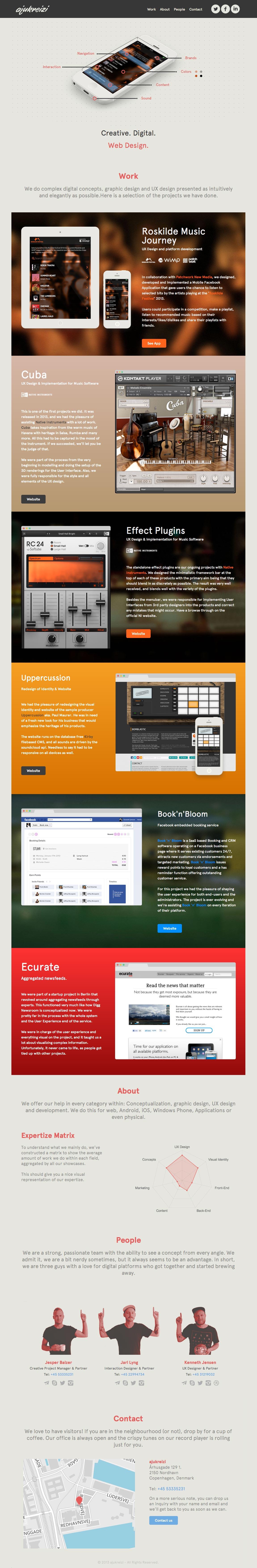 ajukreizi Website Screenshot