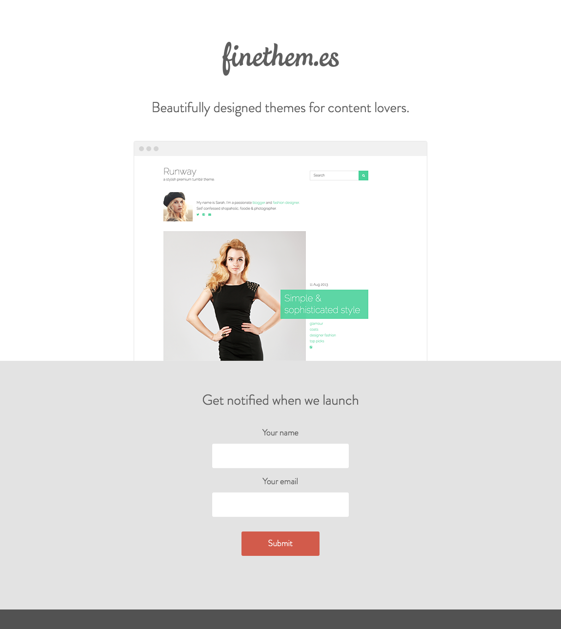 FineThem.es Website Screenshot
