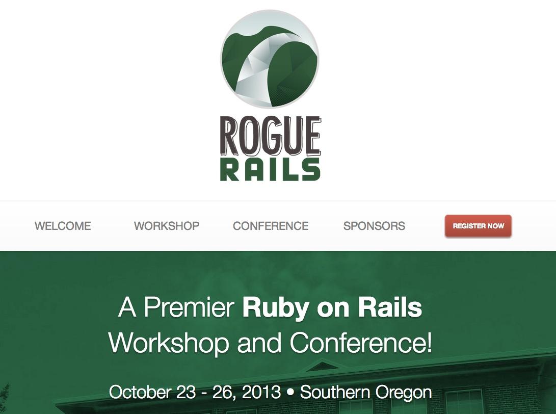 Rogue Rails Website Screenshot