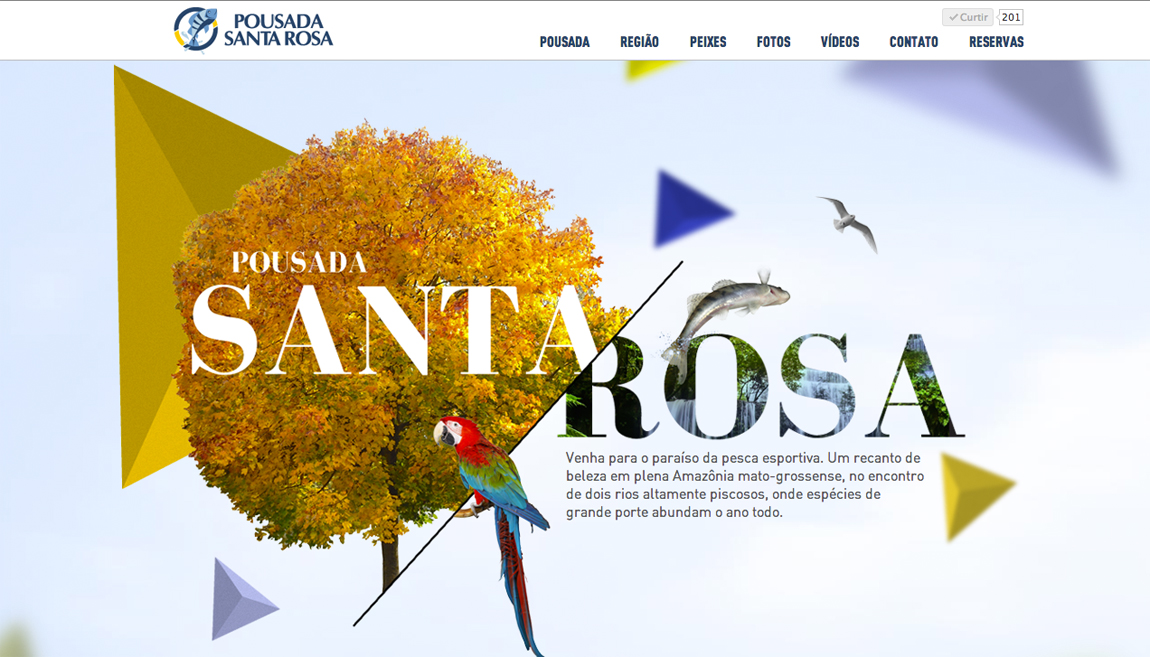 Pousada Santa Rosa Website Screenshot