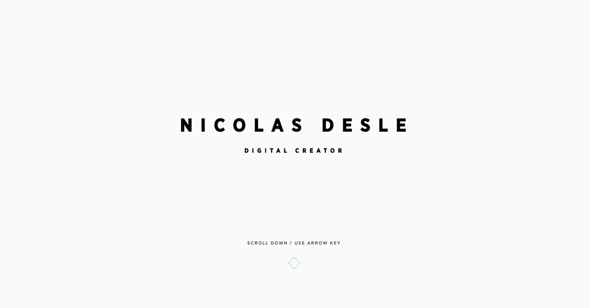 Nicolas Desle Website Screenshot