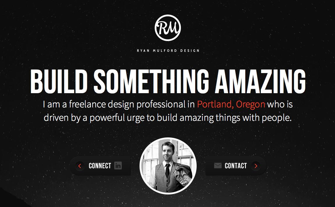 Ryan Mulford Design Website Screenshot