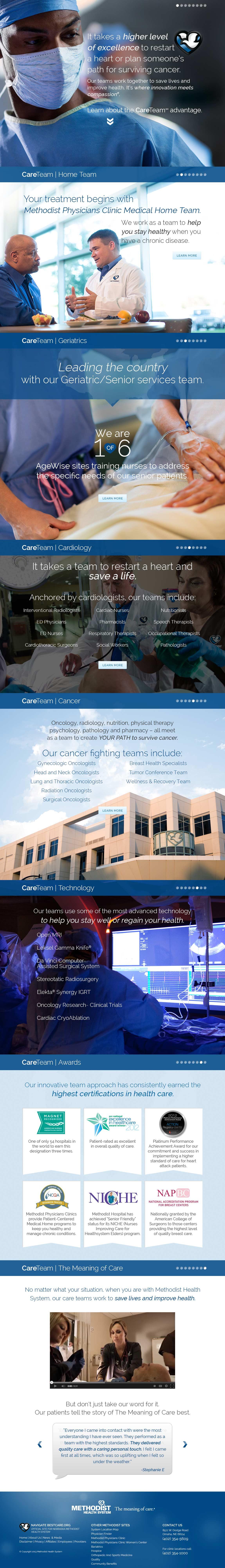 Methodist Health System CareTeam Website Screenshot