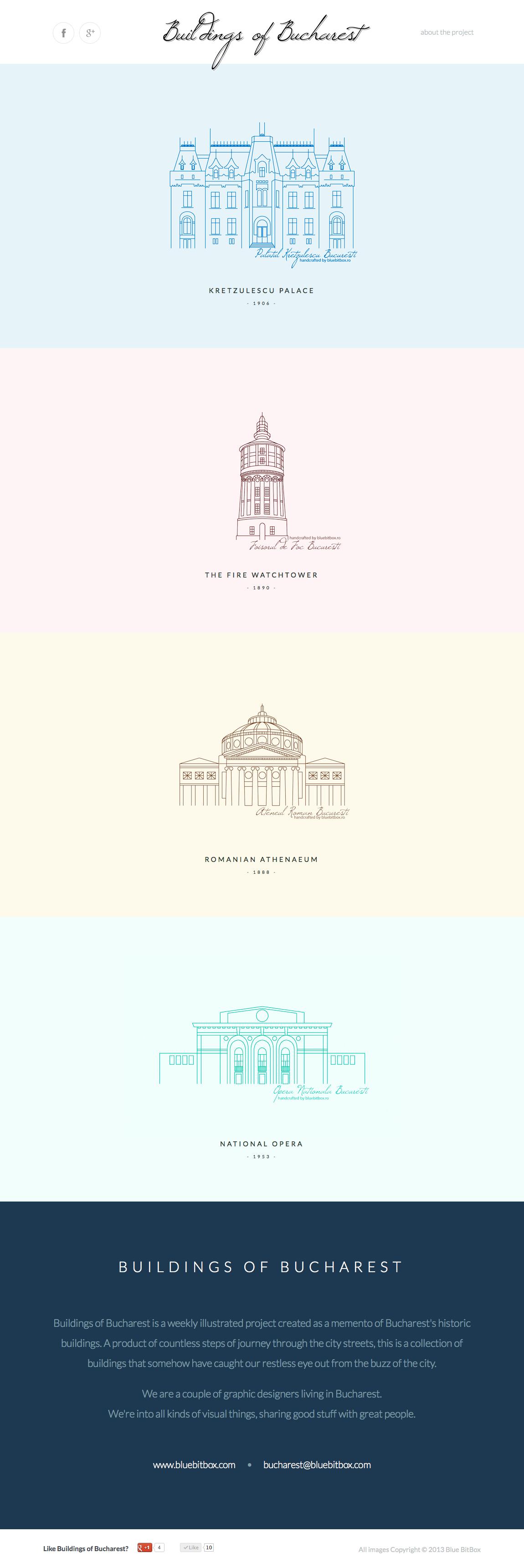 Buildings of Bucharest Website Screenshot