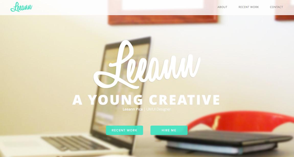Leeann Pica Website Screenshot