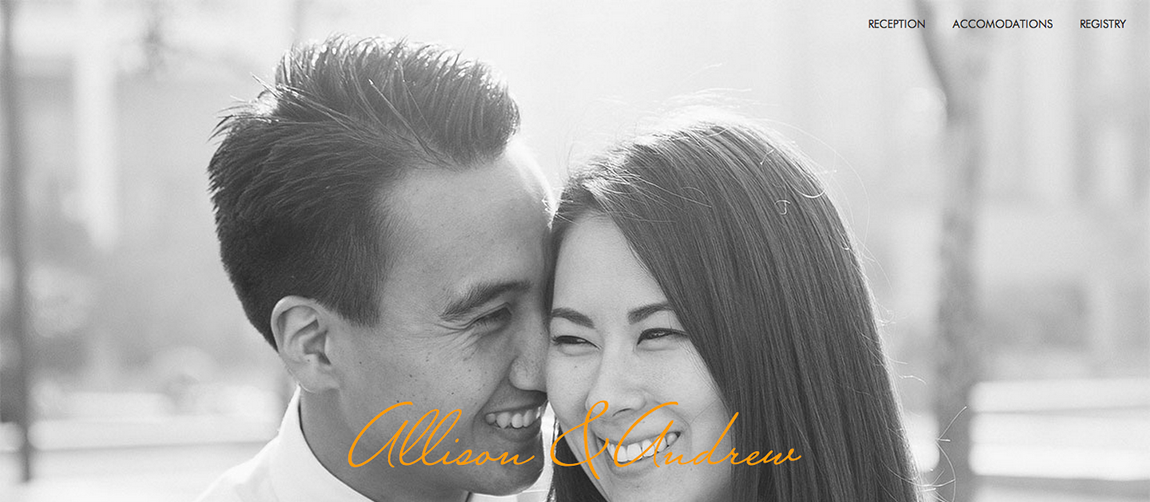 Allison & Andrew Website Screenshot
