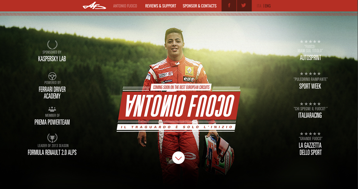 Antonio Fuoco Website Screenshot