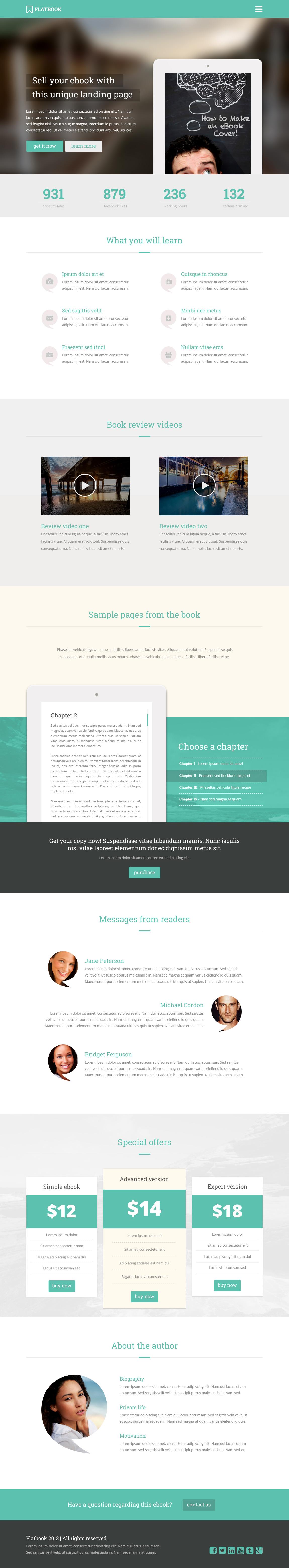 FlatBook Website Screenshot