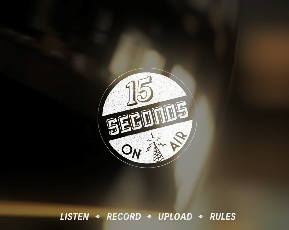 15 Seconds on Air Website Screenshot