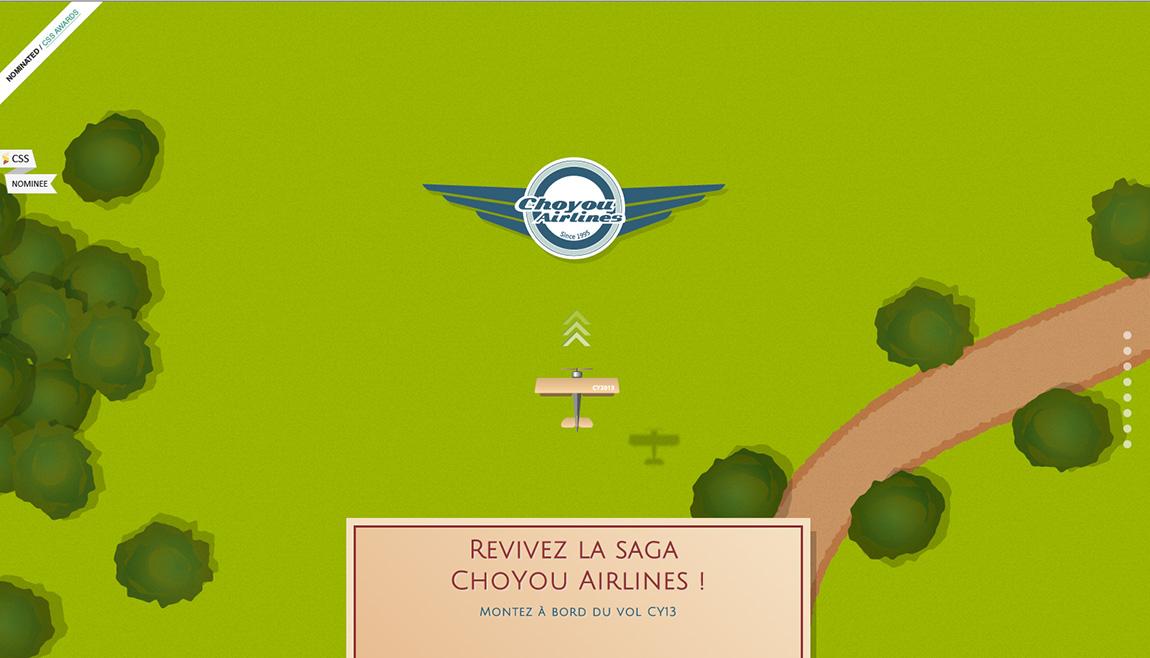 Choyou Airlines Website Screenshot