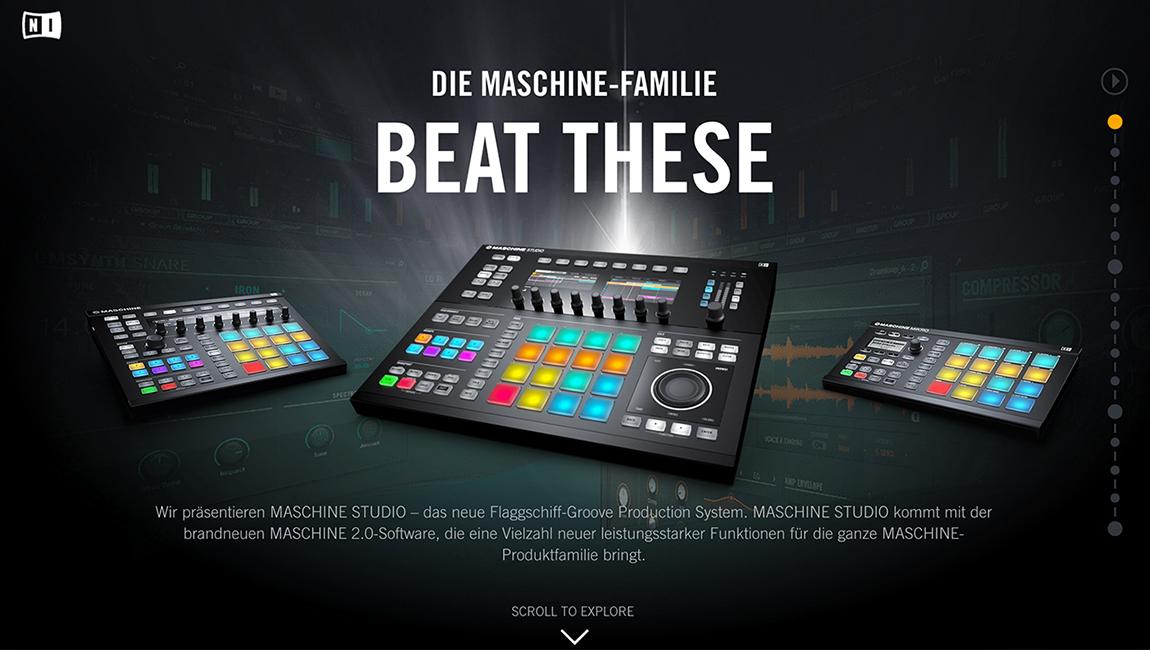 The New Maschine Family Website Screenshot