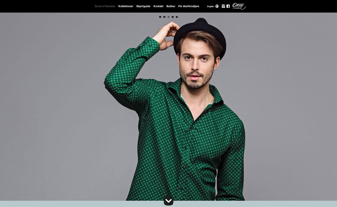 Oscar of Sweden Website Screenshot