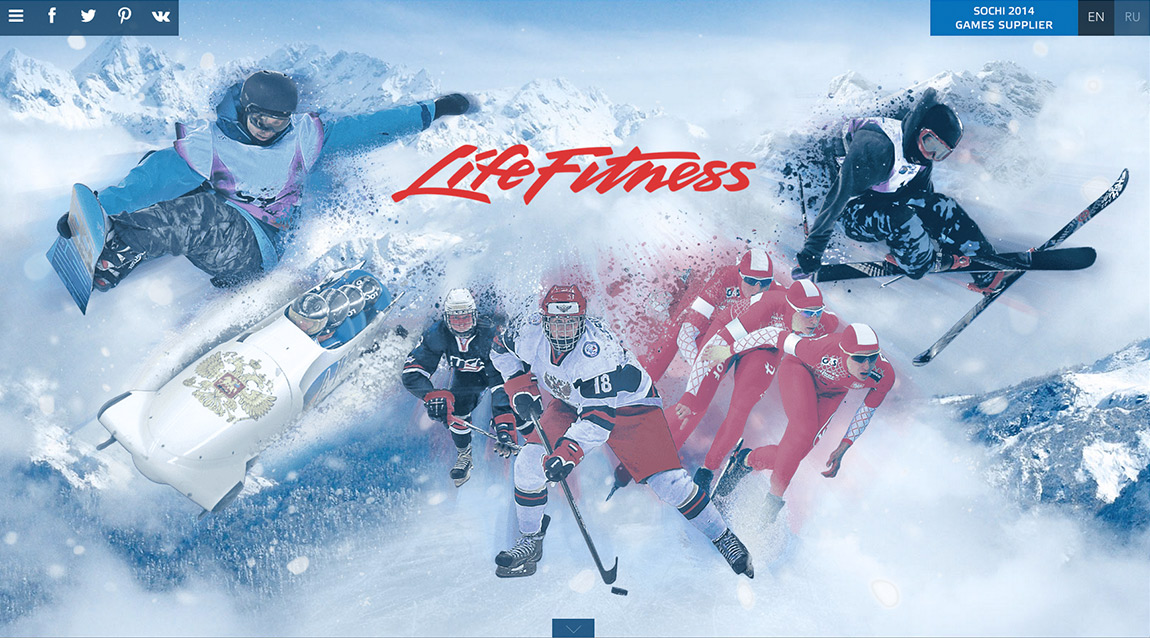 Life Fitness at the Sochi 2014 Winter Olympics Website Screenshot