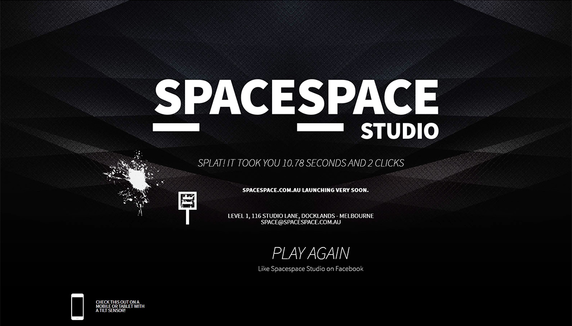 Spacespace Studio SPLAT Website Screenshot