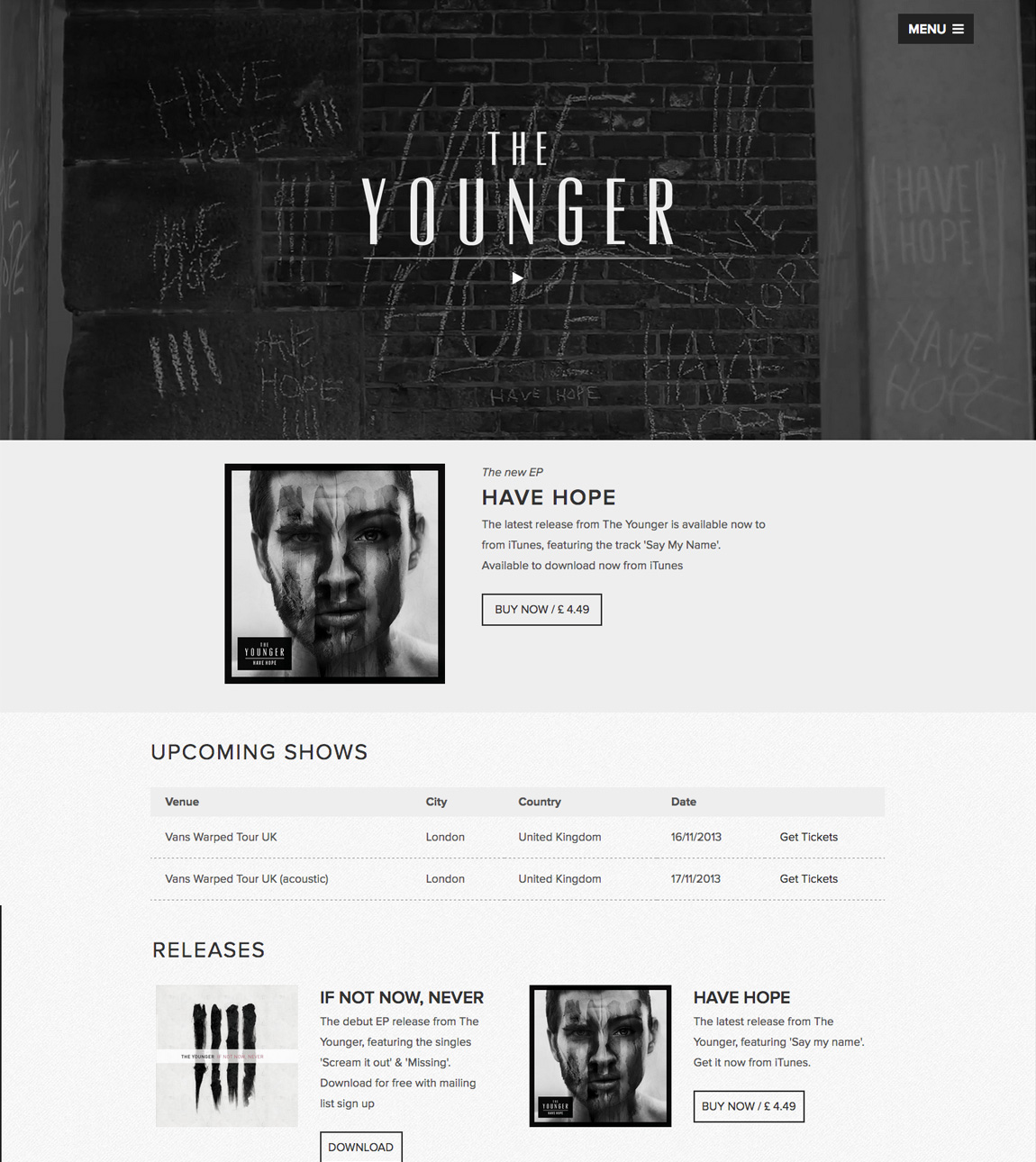 The Younger Website Screenshot