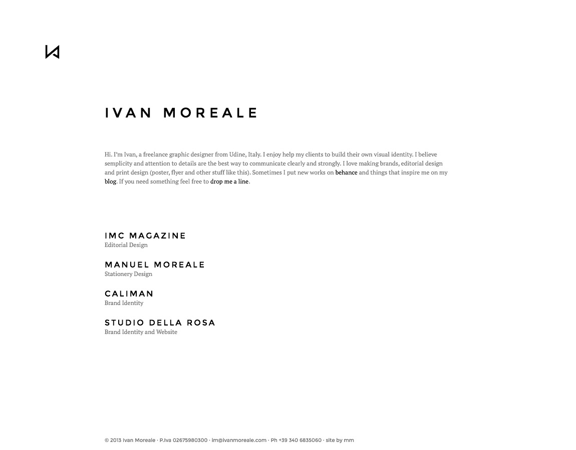 Ivan Moreale Website Screenshot