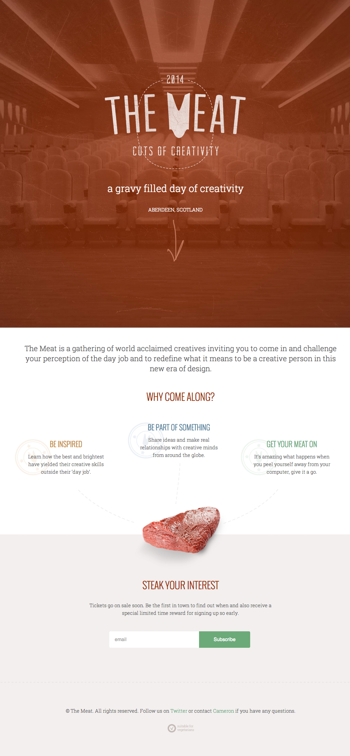 The Meat Website Screenshot