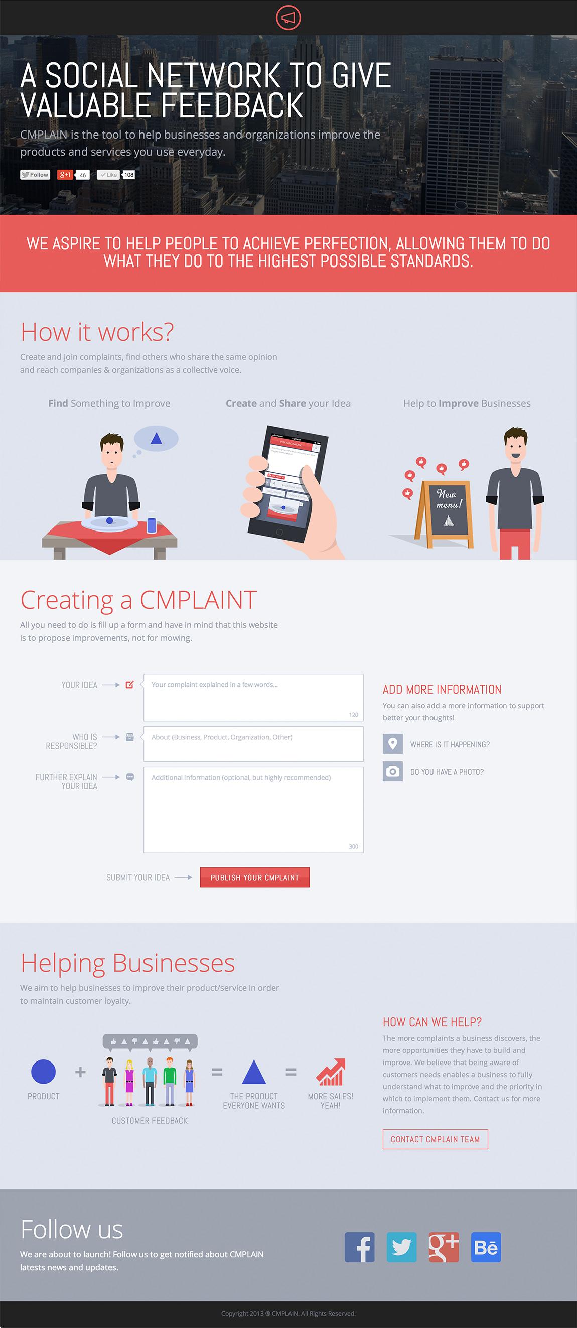 CMPLAIN Website Screenshot