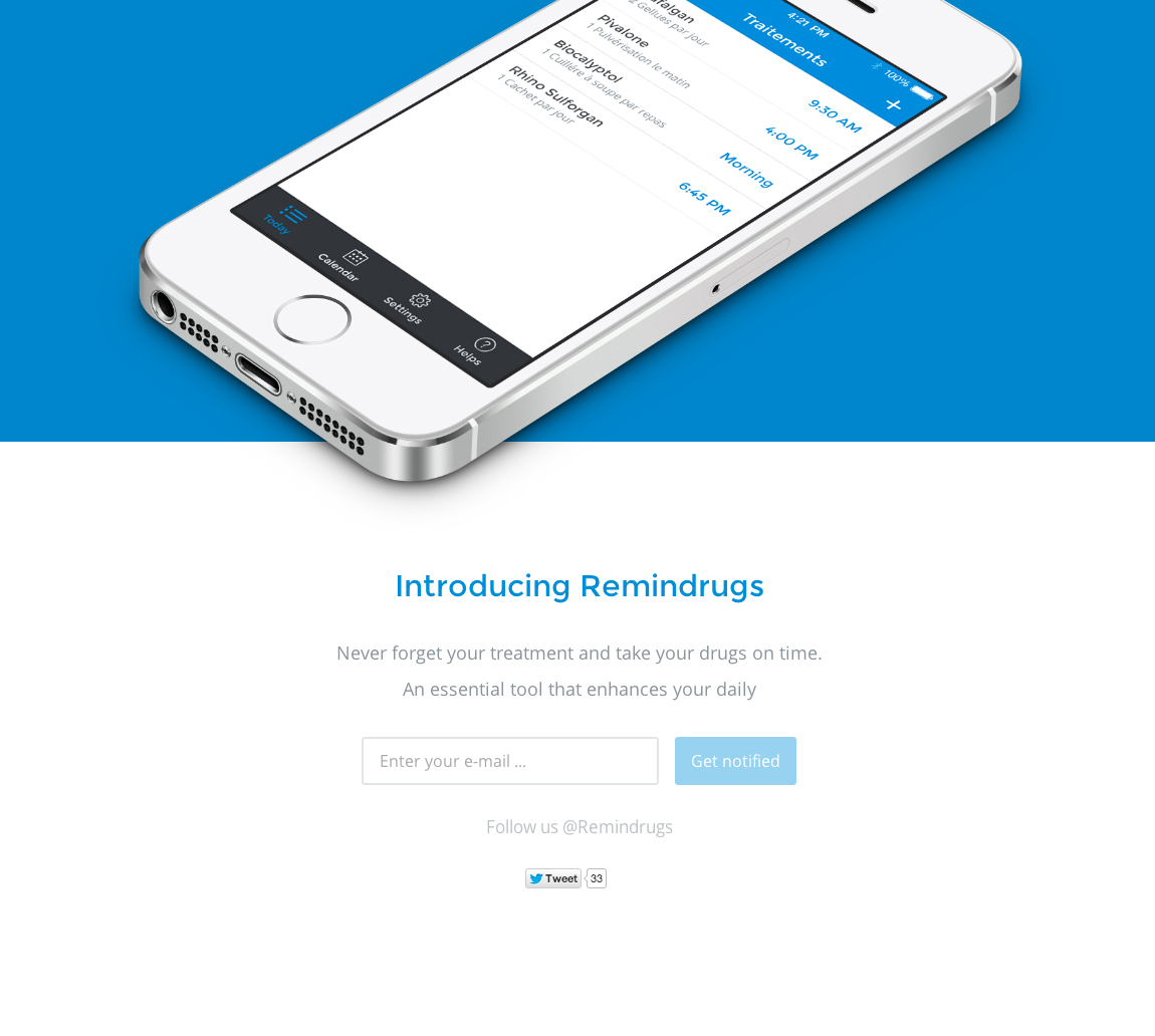 Remindrugs Website Screenshot