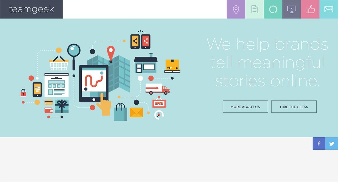 Teamgeek Website Screenshot