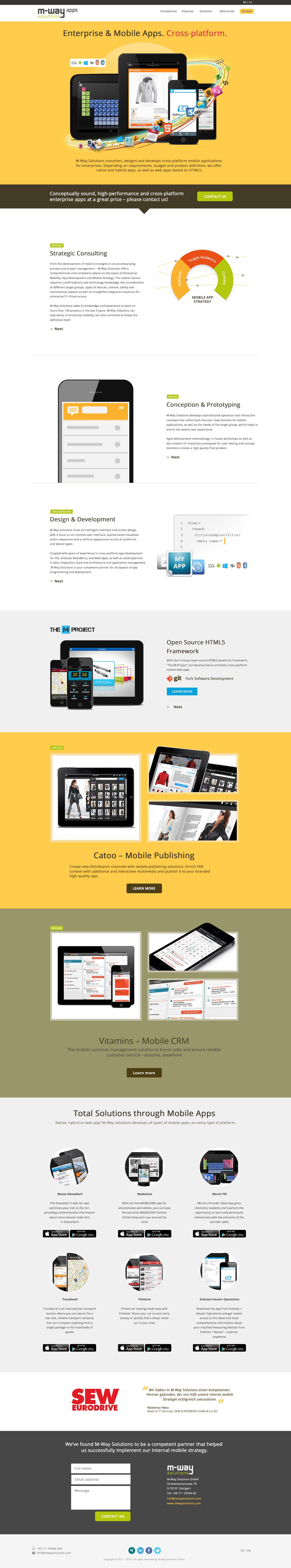 M-Way Apps Website Screenshot
