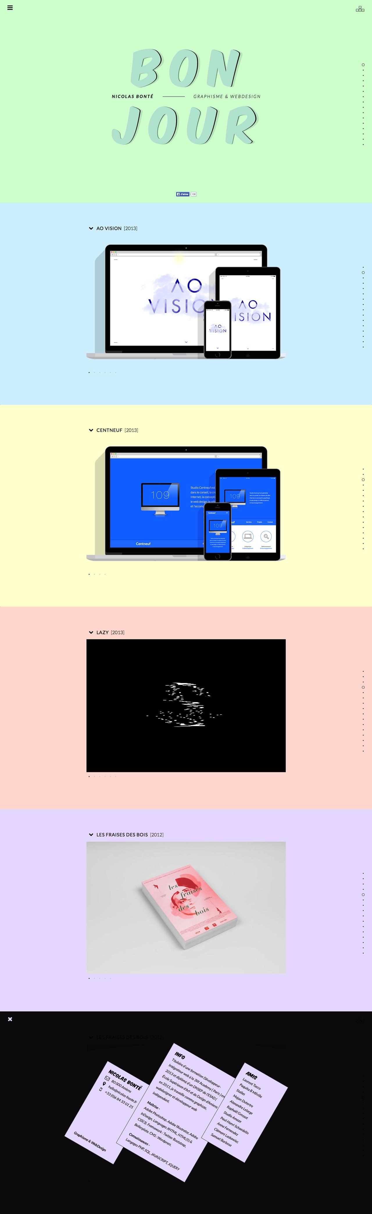 Nicolas Bonté Website Screenshot