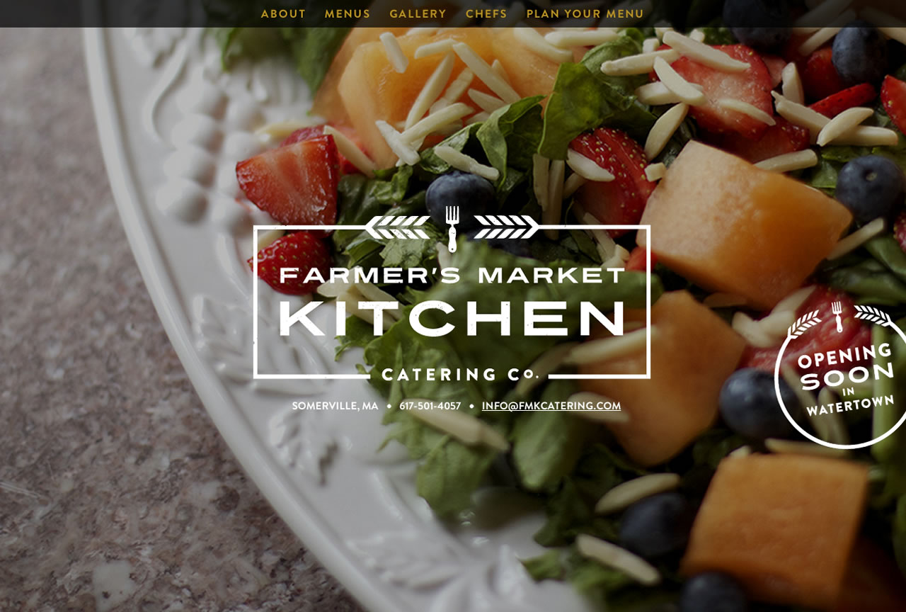 Farmer's Market Kitchen Catering Co. Website Screenshot