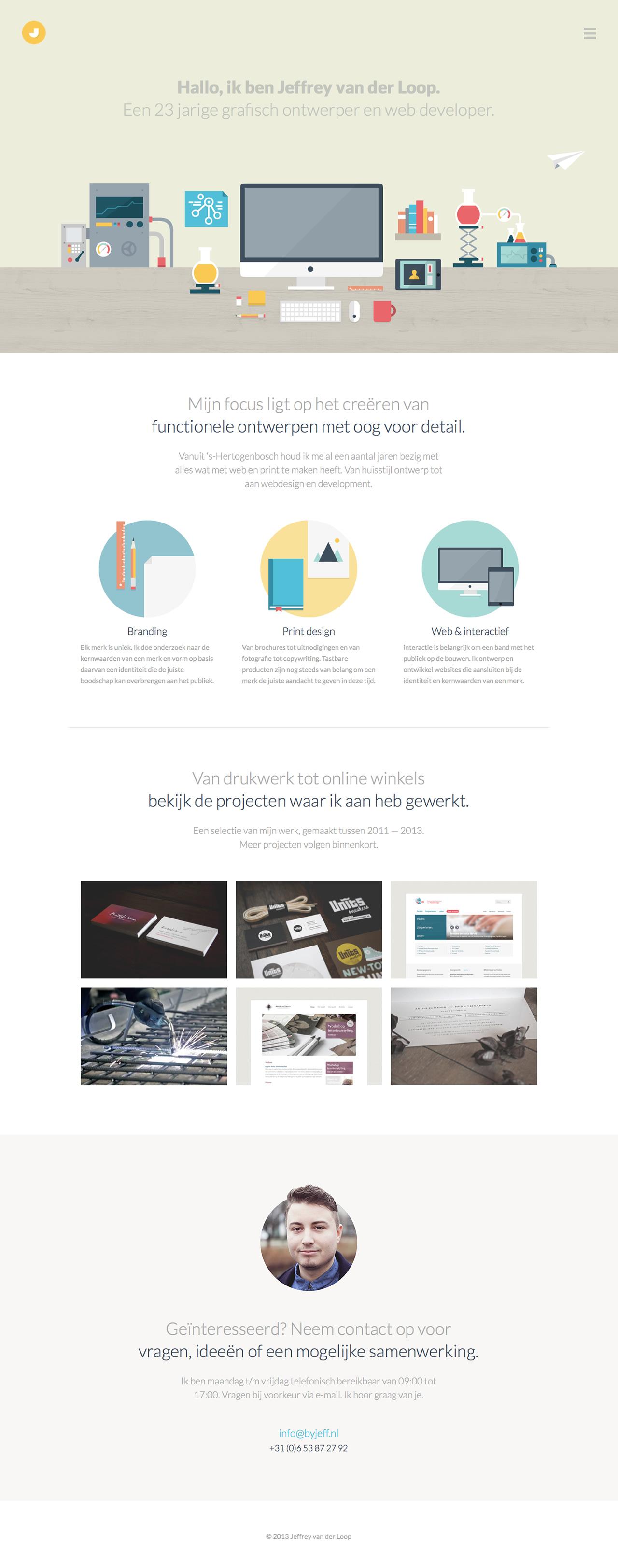 Jeffrey van der Loop Website Screenshot