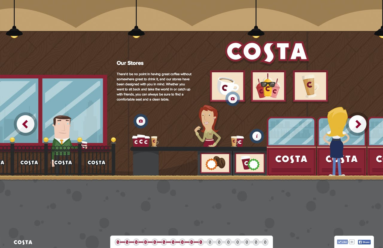 The Costa Experience Website Screenshot