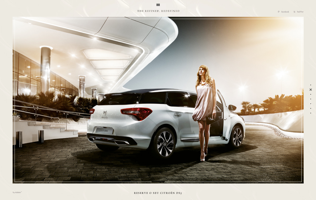 Citroën DS5 Website Screenshot