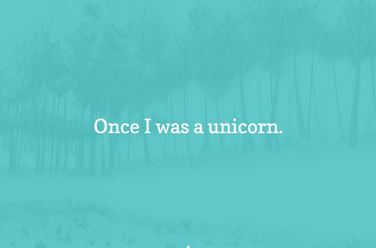 Once A Unicorn Website Screenshot