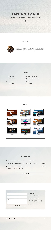 Dan Andrade Website Screenshot