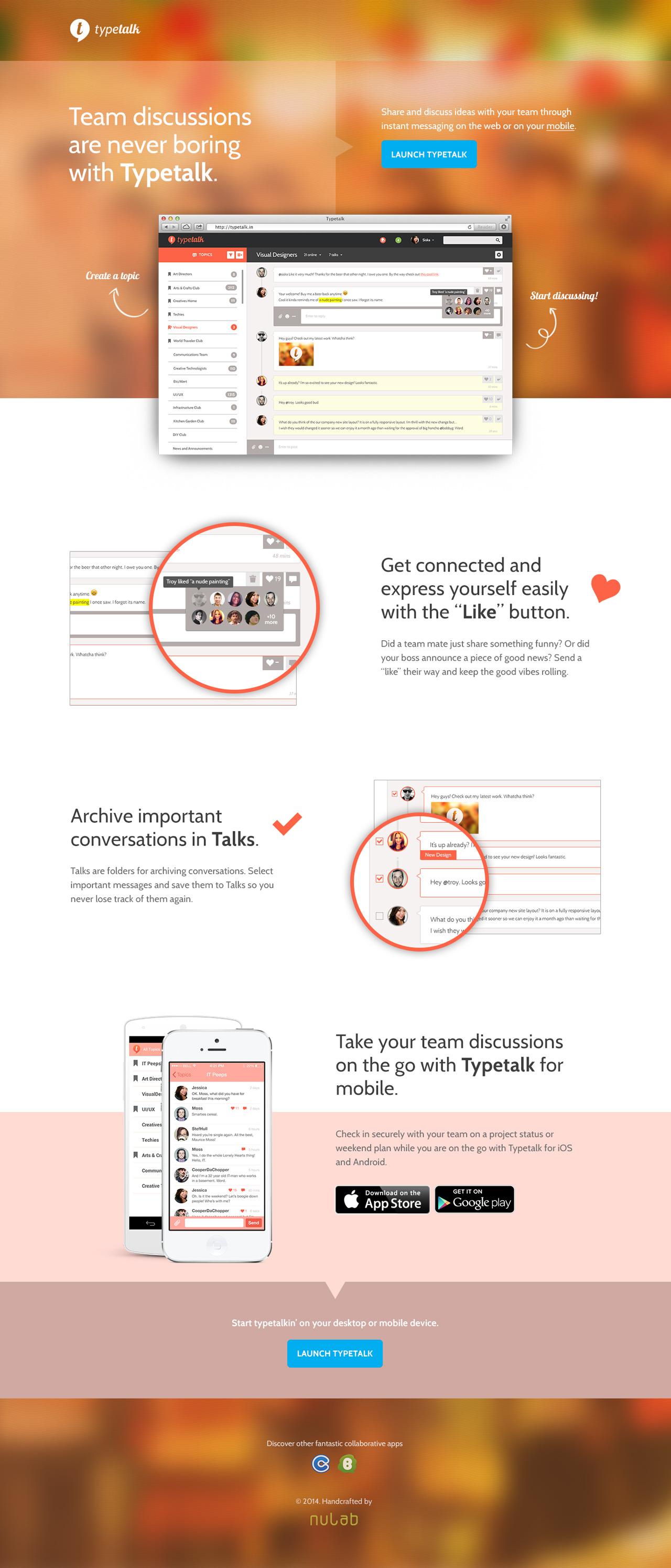 Typetalk Website Screenshot