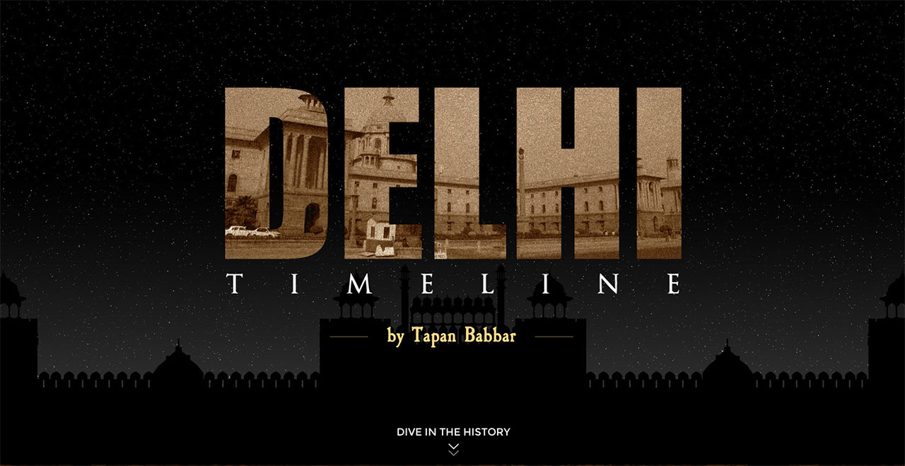 Delhi Timeline Website Screenshot