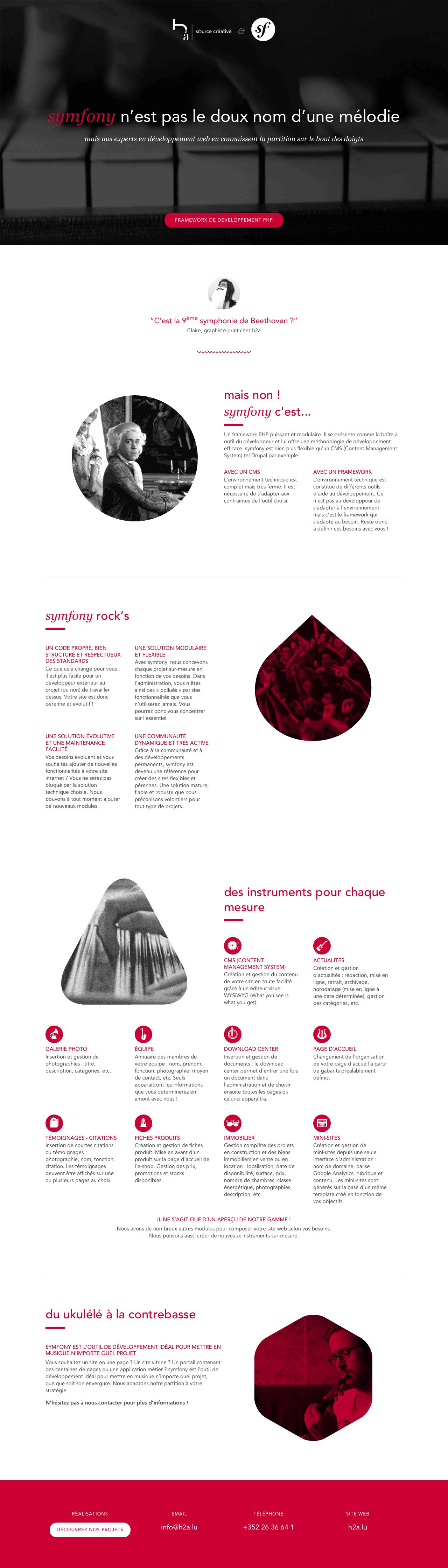 Symfony Framework Website Screenshot