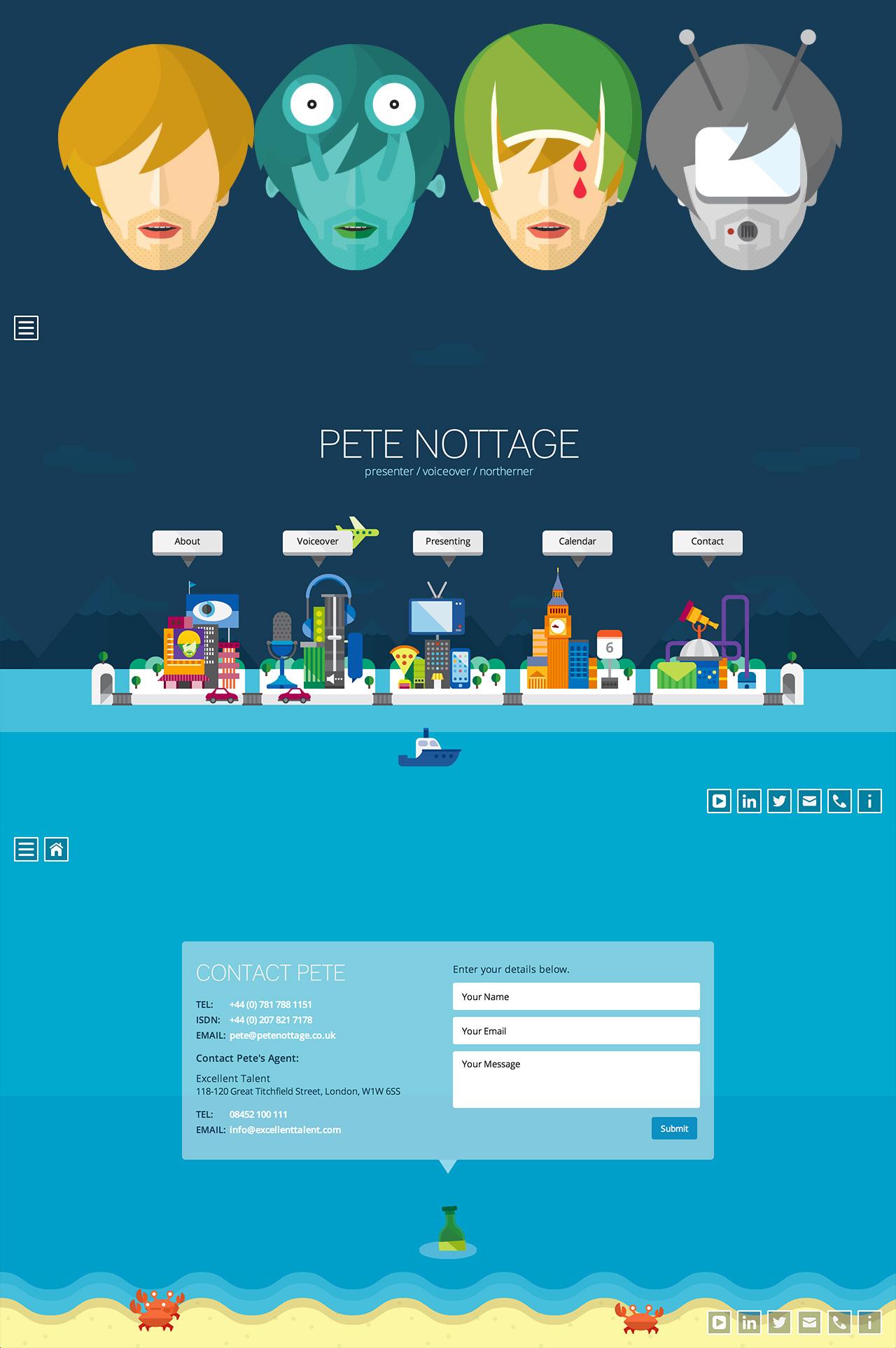 Pete Nottage Website Screenshot