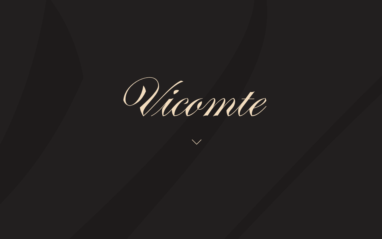 Vicomte font Website Screenshot