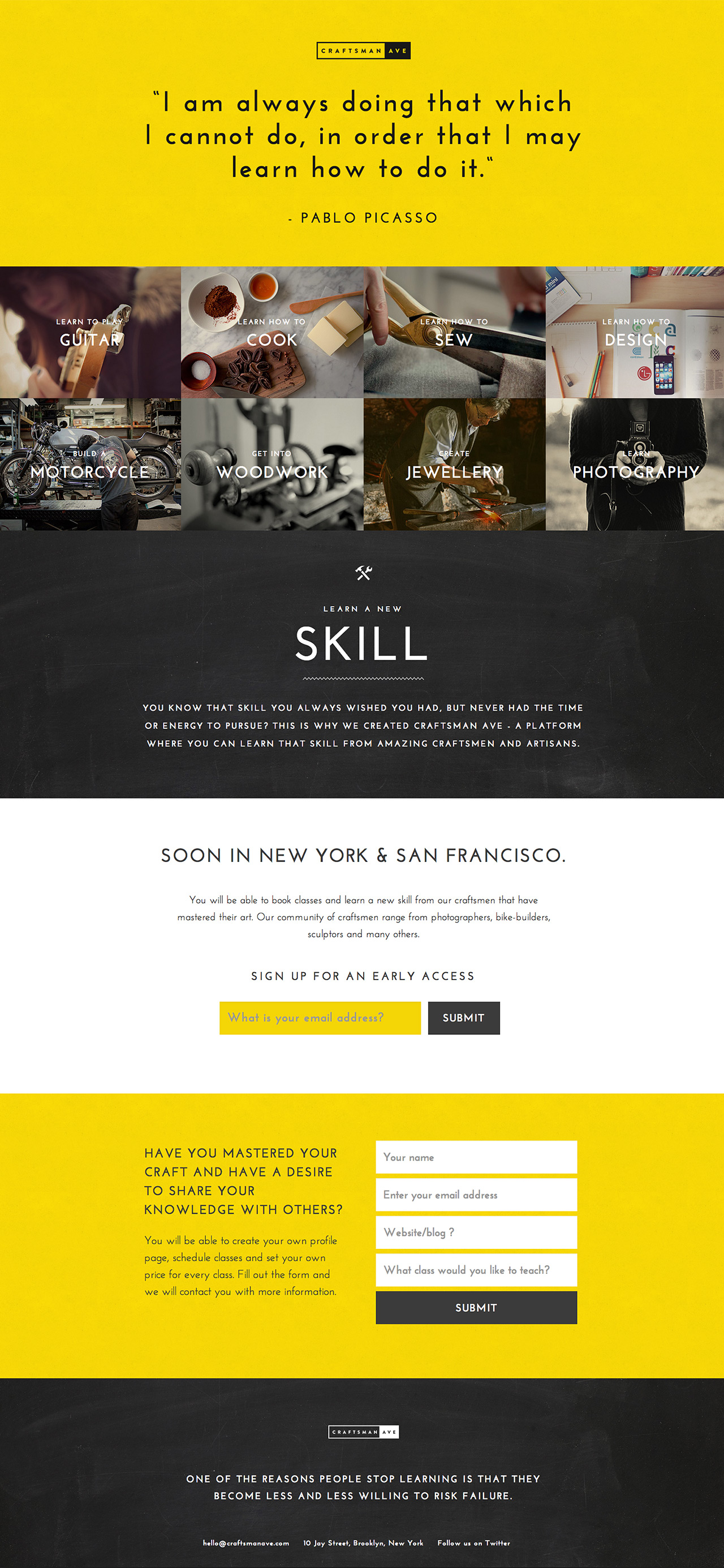 Craftsman Ave Website Screenshot