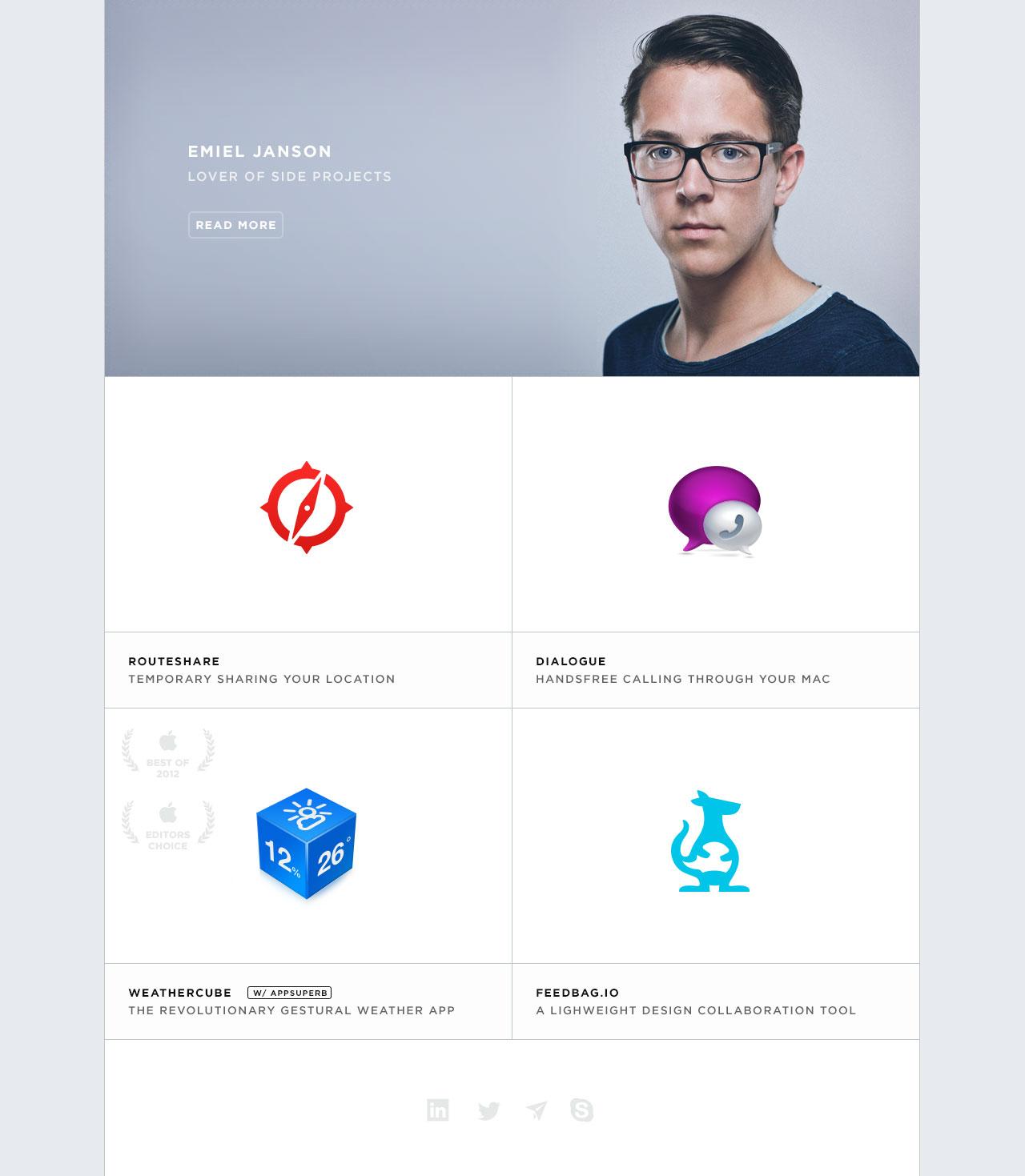 Emiel Janson Website Screenshot