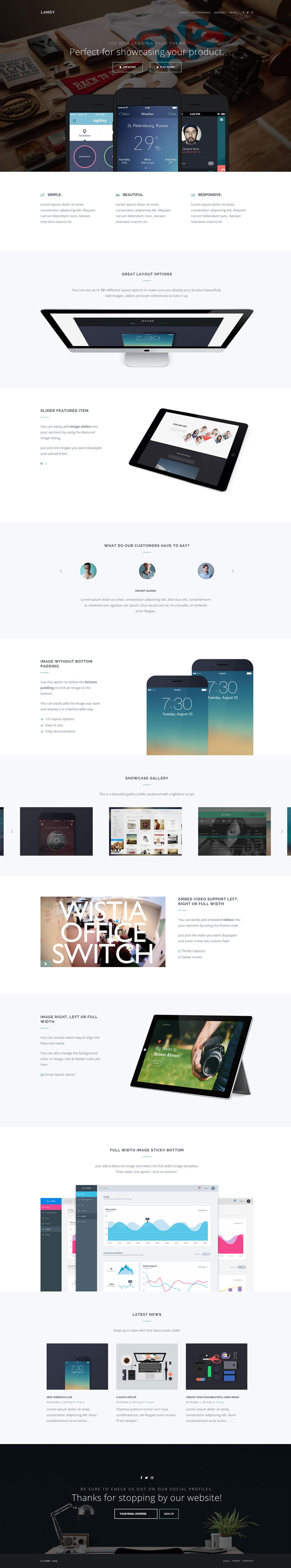 Landy Website Screenshot